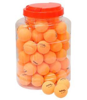 Game 60 Balls Table Tennis 3-Star Orange Softee Balls Ping Pong table Tennis Table Color: orange