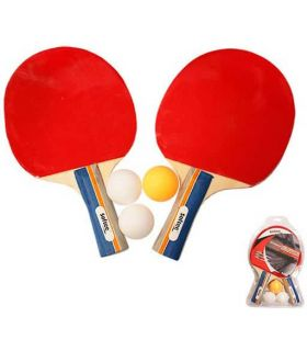 Kit Ping Pong Dynamic Softee Blades Tennis Table Tennis Table Color: red