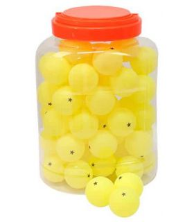 Game 60 Balls Table Tennis 1 Star Yellow Softee Balls Ping Pong table Tennis Table Color: yellow