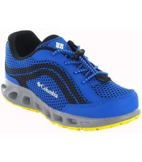Columbia Drainmaker Jr Bleu-Britannique, Chaussures De Running Enfant Chaussures De Course Running Tailles: 33, 34, 35, 36, 37,