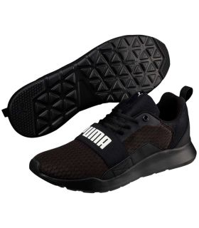 Puma Wired Black Puma Shoes Casual Man Lifestyle Sizes: 40,5, 41, 42, 42,5, 43, 44, 44,5, 45, 46, 47; Color: black