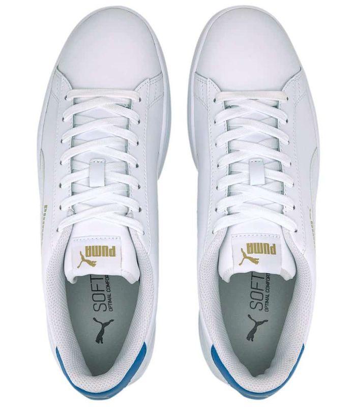Offer Puma Smash v2 Leather White Blue l Sizes 44 Colour Blanco