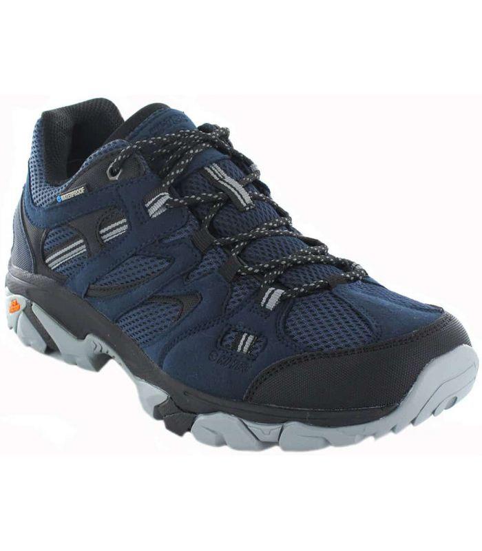 Zapatillas Trekking Hombre - Hi-Tec Ravus Vent Lite Low WP azul marino Calzado Montaña