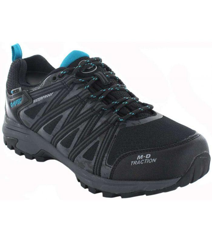 Zapatillas Trekking Hombre - Hi-Tec Menhir WP negro Calzado Montaña