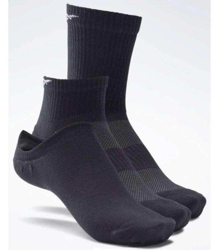 Calcetines Running - Reebok Calcetines Active Foundation pack de 3 negro Zapatillas Running