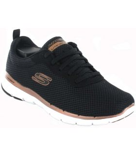 Skechers Flex Appeal 3.0 Negro Skechers Calzado Casual Mujer Lifestyle Tallas: 36, 37, 38, 39, 41; Color: negro