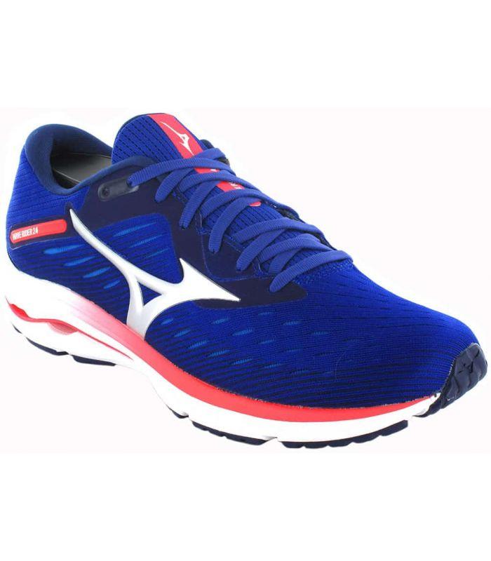 Mizuno Wave Rider 24 Blue - Mens Running Shoes