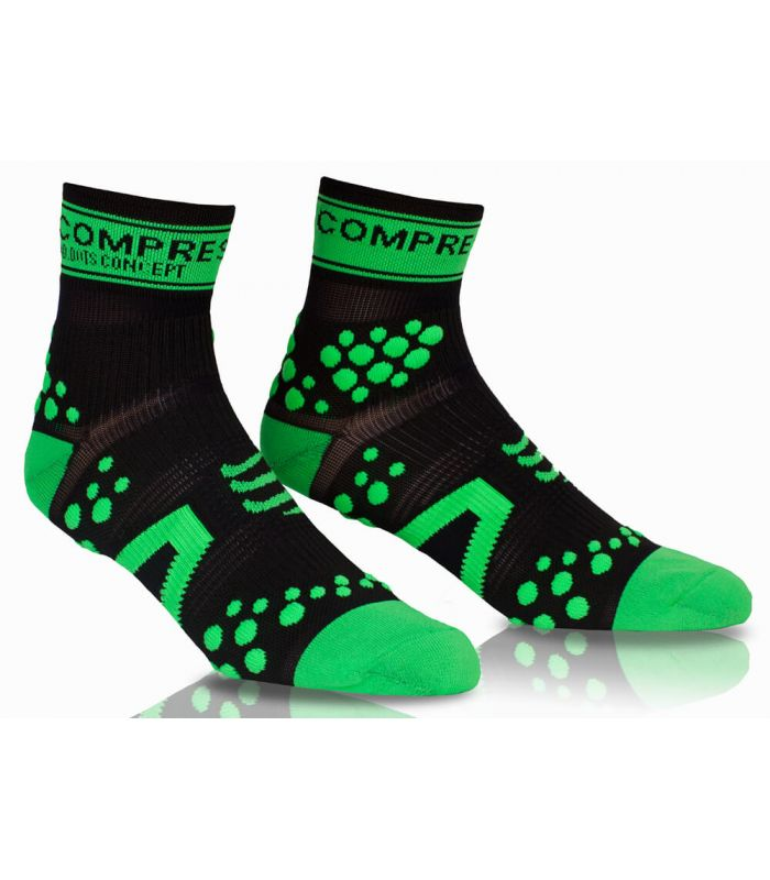 Compressport Pro Racing Socks V2 Run High Negro Verde
