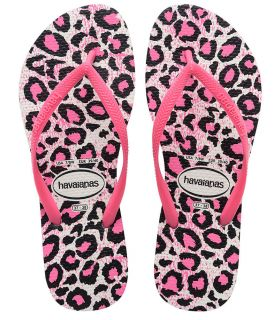 Havaianas Slim Animals Blanco Rosa